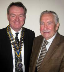 Alan Gale with president Nick Castle