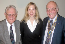 Carlotta Rehkater with Peter Slater and President David Pickover