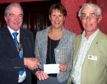 Cheque presentation to Helen Knowles of the Wakefield Hospice in June 2008