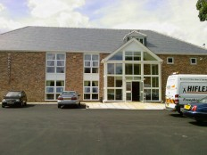 New Brookhouse Club entrance from the car park