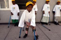 Polio victims receive assistance